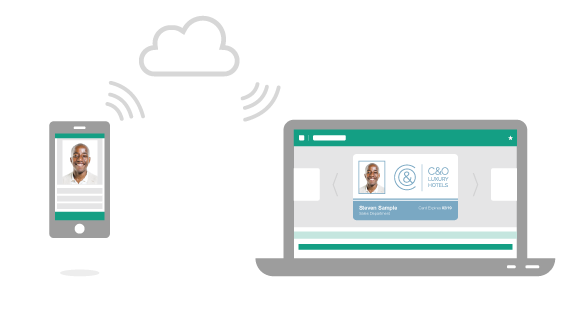 The EasyBadge mobile app uses the cloud to synchronise with your desktop software