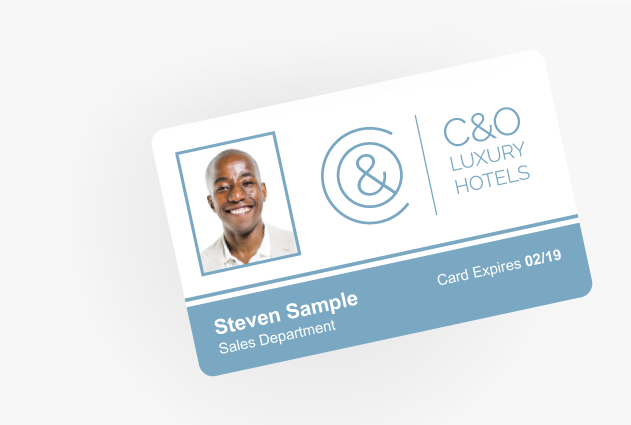 EasyBadge Card design template