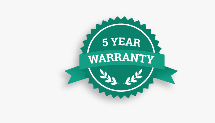 5 year warranty with every printer